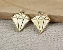 Prívesok zlatý diamant