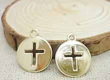- Prívesok zlatý krížik - 8441694_