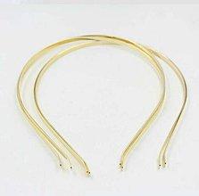 Galantéria - Zlatá čelenka na dozdobenie 5mm - 8441518_