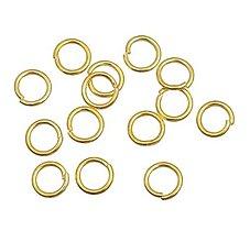 Komponenty - Krúžky na výrobuž bižutérie 6mm (balíček 50ks) - 8441531_
