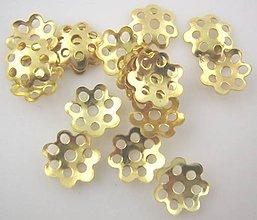 Komponenty - Medzikus na korálky zlatý (balíček 30ks) - 8441613_