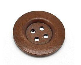 Galantéria - Drevený gombík 4cm - 8442099_