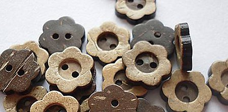 Galantéria - Kokosový gombík kvetinka - 8442122_