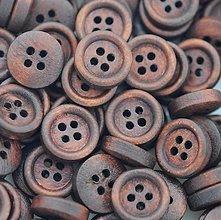 Galantéria - Drevený gombík 12mm - 8442141_