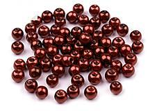 - Voskované perličky 6 mm, 30 ks -medenobordové - 8440095_