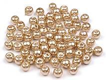 - Voskované perličky 6 mm, 30 ks - béžové - 8440106_