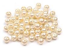 - Voskované perličky 6 mm, 30 ks - smotanové - 8440117_
