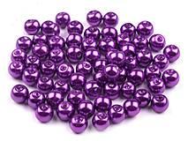- Voskované perličky 6 mm, 30 ks - fialové - 8440127_