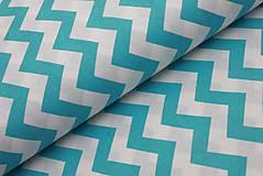 Textil - Tyrkysový chevron - 8443713_