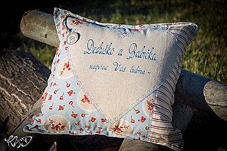"""Úžitkový textil - Vankúšik """" Dedko a Babička"""" - 8445431_"""