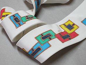 Doplnky - Štvorčeková  kravata - 8445608_
