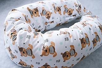 Textil - Tehotenský vankúš / Vankúš na dojčenie medvedík s hviezdičkami - 8444728_