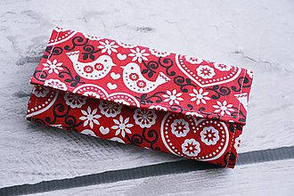 Peňaženky - Peňažová červená folk - 8444779_