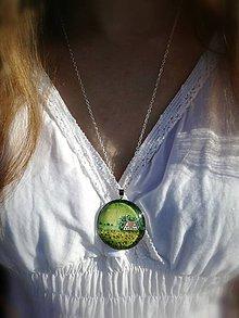 Náhrdelníky - Maľba v šperku - vlčie maky - 8443797_