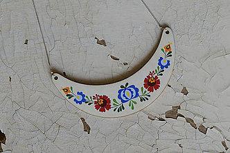 Náhrdelníky - DREVENÝ NÁHRDELNÍK MAXI - 8445731_