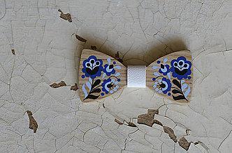 Doplnky - Na dreve maľované • drevený motýlik - 8445735_