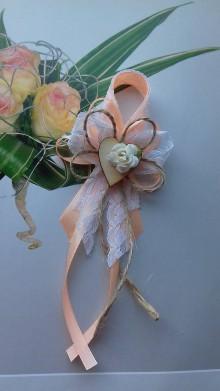 Pierka - svadobné pierko vintage marhuľové veľké - 8444012_