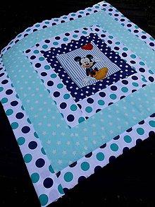 Textil - DĚTSKÁ PATCHWORKOVÁ DEKA ...mentolová - 8445370_