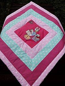 Textil - DĚTSKÁ PATCHWORKOVÁ DEKA ...růžová - 8445380_