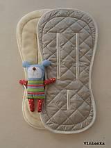 Textil - Bugaboo Seat Liner SAND fabric/ Podložka do kočíka béžová Elegant prešitie na mieru - 8443165_