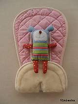 Textil - Bugaboo Seat Liner SOFT PINK fabric/ Podložka do kočíka pastelová ružová Elegant prešitie na mieru - 8443172_