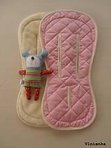 Textil - Bugaboo Seat Liner SOFT PINK fabric/ Podložka do kočíka pastelová ružová Elegant prešitie na mieru - 8443173_