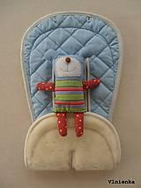 Textil - Bugaboo Seat Liner ICE BLUE fabric/ Podložka do kočíka pastelová bledomodrá Elegant prešitie na mieru - 8443178_