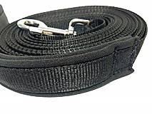Pre zvieratá - Stopovacie vodítko čierne so softshellom - 8444764_
