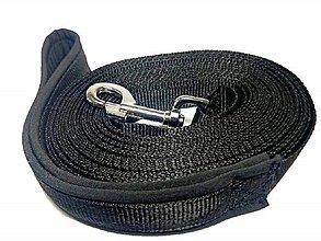 Pre zvieratká - Stopovacie vodítko čierne so softshellom - 8444763_