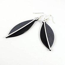 Náušnice - Náušnice eucalyptus vertigo grey/black/white - 8443546_