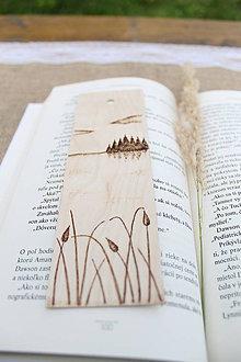 """Papiernictvo - Drevená záložka do knihy """"Belasé pleso"""" - 8444931_"""