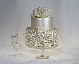 Krabičky - dekoračný box/ svadobná torta Perla - 8444976_