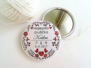 Zrkadielka - Folk zrkadielka/odznaky pre družičky - 8444856_
