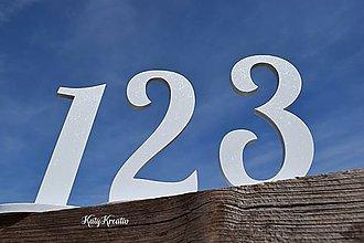 Dekorácie - čísla na svadobný stôl - 8446554_