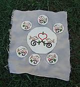 Úžitkový textil - ...plstené prestieranie pod čajník a šáločky... - 8445945_