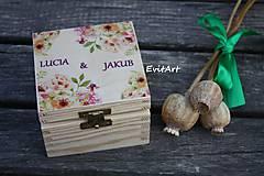 Krabičky - Svadobná krabička - ruže - 8448180_
