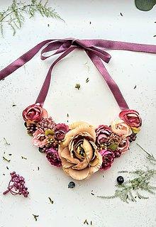 Náhrdelníky - Kvetinový náhrdelník - 8448004_