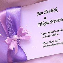 Darčeky pre svadobčanov - svadobné oznámenie \