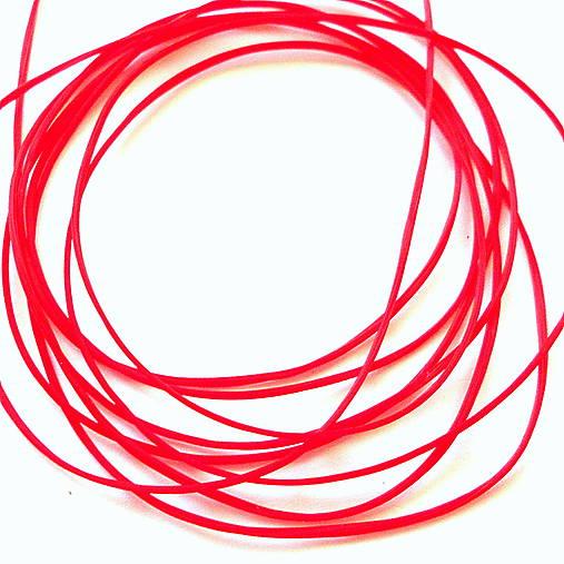Gumička plochá 1mm (červená-10m)