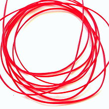 Galantéria - Gumička plochá 1mm (červená-10m) - 8448062_