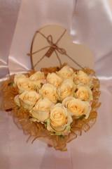 Flower box krémové srdce