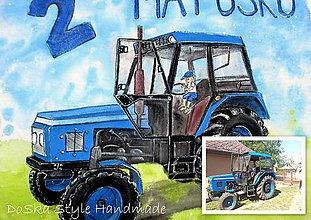 Tričká - Traktor podľa fotky - 8446688_
