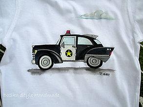 Detské oblečenie - Retro policajné auto - 8447654_