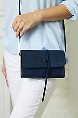 Kabelky - Listová kabelka MINI CLUTCH ROYAL BLUE - 8447938_