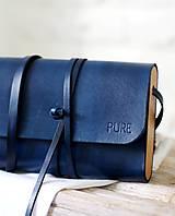 Kabelky - Listová kabelka MINI CLUTCH ROYAL BLUE - 8448054_