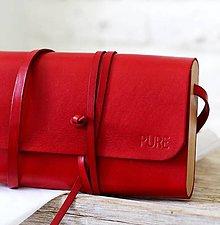 Kabelky - Listová kabelka MINI CLUTCH RED - 8447944_