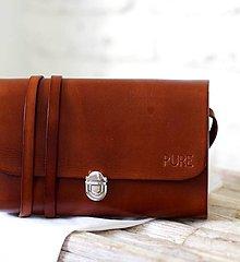 Kabelky - Multifunkčná kabelka MINI CLUTCH BROWN - 8447955_