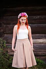 Sukne - Elegantná hnedá sukňa - 8446728_
