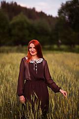 Šaty - Bodkované vintage šaty - 8446732_