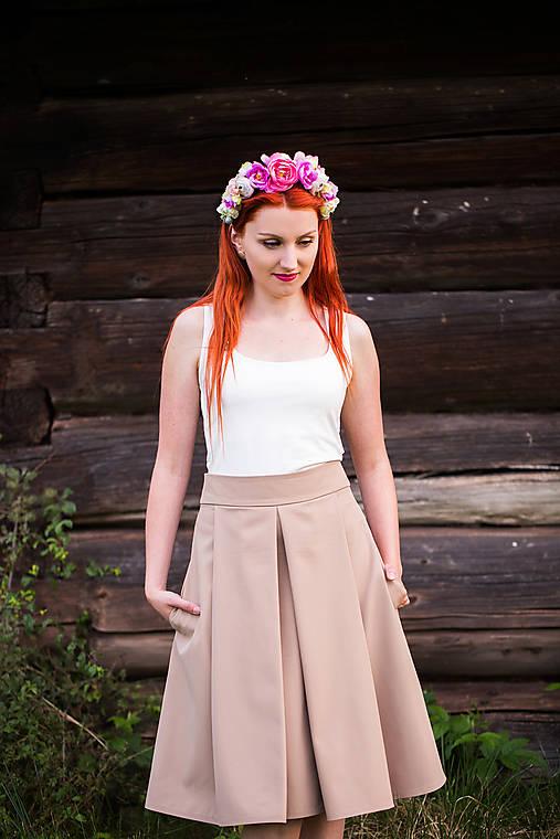 4eb4ae345575 Elegantná hnedá sukňa   SEVERANKA - SAShE.sk - Handmade Sukne